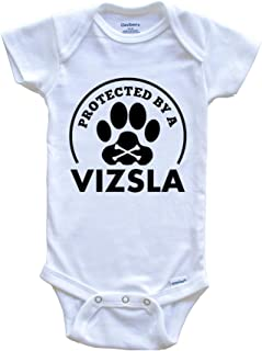 Protected by A Vizsla Funny Baby Onesie