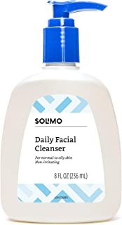Amazon Brand - Solimo Daily Facial Cleanser, Normal to Oily Skin, 8 Fluid Ounce