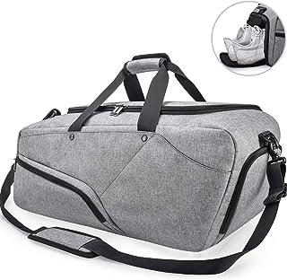 NUBILY Sporttasche Herren Reisetasche mit Schuhfach Groß Gym Fitness Sport Tasche Handgepäck Weekender 45 Liter Trainingstasche Sporttasche für Männer und Frauen