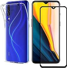متوافق مع جراب Samsung Galaxy M30S واقي الشاشة لهاتف Galaxy M30S، جراب هاتف TPU ناعم شفاف + واقي شاشة كامل من الزجاج المقوى 9H لهاتف Galaxy M30S (شفاف)