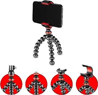 JOBY GorillaPod - Kit Básico Trípode Mini Flexible con Pinza Universal para Smartphone, Adaptador GoPro y Adaptador de Ant...