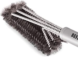 """Best BBQ Grill Brush Stainless Steel 18"""" Barbecue Cleaning Brush w/Wire Bristles & Soft Comfortable Handle - Perfect Cleaner & Scraper for Grill Cooking Grates"""