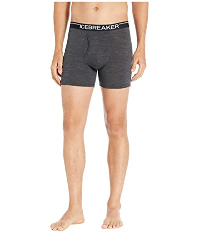 Icebreaker Anatomica Merino Boxers w/ Fly (Jet Heather) Men