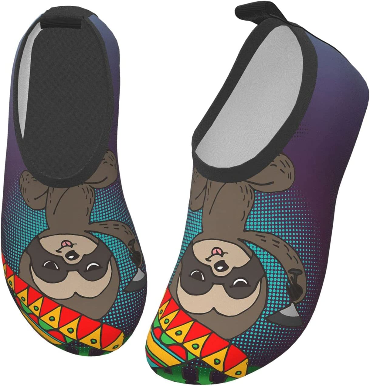wobzfrok Lets Get Slothed Cinco De Mayo Kids Water Shoes Girls Boys Toddler Non-Slip Quick Dry Aqua Socks for Beach Swim Walking 28/29