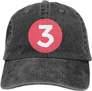 Adult Baseball Caps Cha-nce Rapper Breathable Sports Denim Cap Adjustable Black