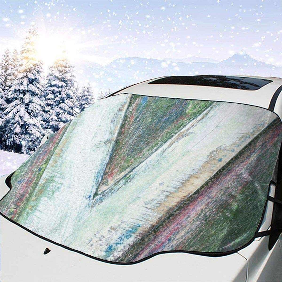 Car Front Window 2021 famous autumn and winter new Windshield Snow Wooden Ca Alphabet Block Cover