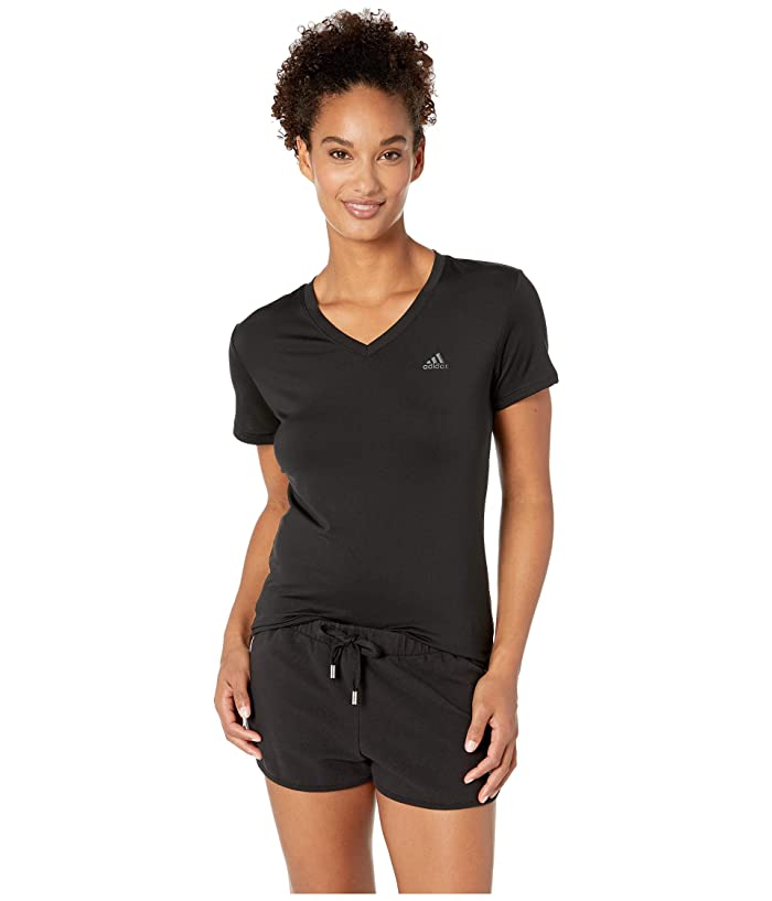 adidas Tech Tee (Black/Black) Women
