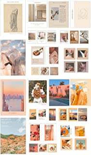 Wall Collage Kit Aesthetic Art Pictures Small Posters Prints for Bedroom Dorm Decor, Include 48pcs Self-adhesive Dots(Set ...