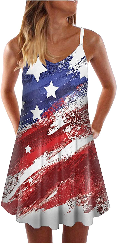 Tavorpt Boho Dresses for Women Summer Casual Spaghetti Strap Pleated Floral Printed Loose Mini Tank Dress Beach Sundress