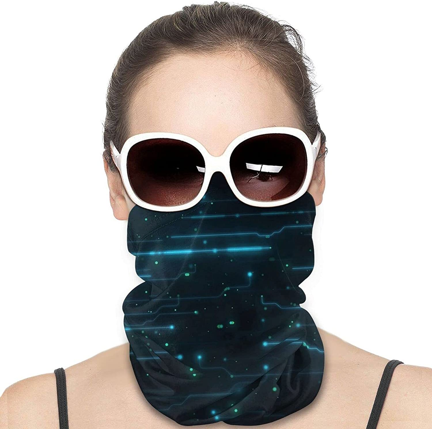 Digital-Simple-Dark-Background Unisex Neck Gaiter Face Mask Mans Womens Multifunction Balaclava Face Cover,Cycling Mask,Sport Neck Gaiter,Hiking Scarf,Fishing Mask, Motorcycle Face Cover