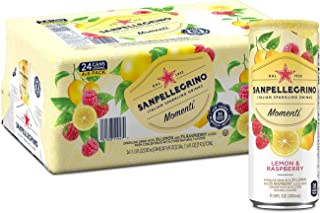 Sanpellegrino Momenti Lemon & Red Raspberry Cans, 11.15 Fluid Ounce (24 Pack)