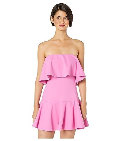 Susana Monaco Ruffle Drop Waist Dress (Bubblegum) Women