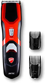 Imetec Ducati -  Maquinilla cortapelo HC 909 S-Curve, cuchillas revestidas de titanio, 13 ajustes de 1mm a 25mm, recarga rápida, inalámbrico