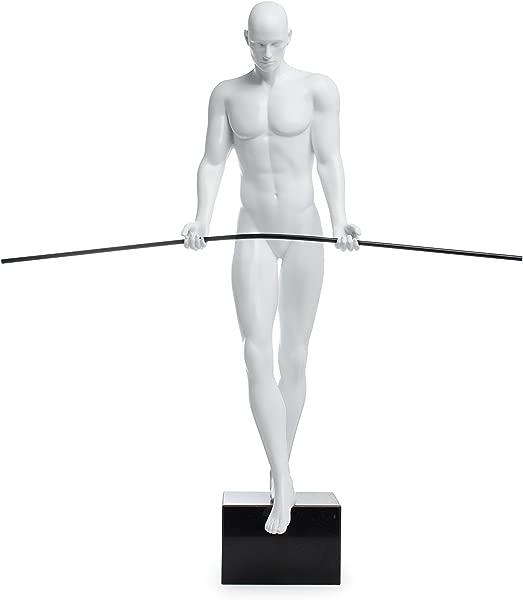 Finesse Decor Series Balancing Man Sculpture Matte White
