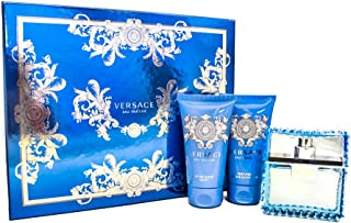 Gianni Versace Man Eau Fraiche 3 Pc. Gift Set (Eau De Toilette Spray 1.7 Oz, Perfumed Bath, Shower Gel 1.7 Oz & Aftershave Balm 1.7 Oz) for Men, 1.7 fl. Oz.
