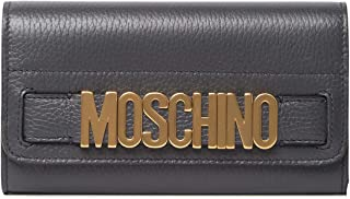 MOSCHINO Continental Leather Wallet GREY