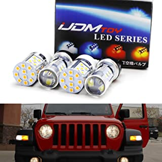 iJDMTOY Complete LED Daytime Running Light, Turn Signal Conversion Kit For 2018-up Jeep Wrangler JL Rubicon, Sahara w/ 2-Bulb DRL/Blinker Lamps