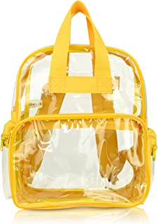 DALIX Clear Backpack for School Transparent Bags Girls Boys Gold 12 Pack