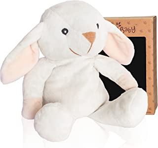 """Microwave Plush Pal By Wild Baby - Cosy Heatable Stuffed Animal with Lavender Scent, 10"""" White Snow Bunny"""