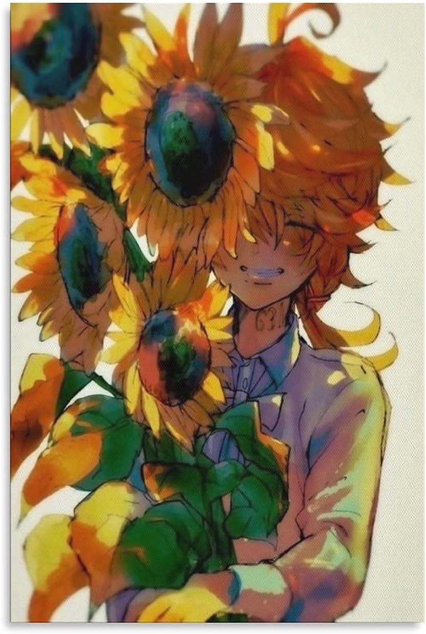 GOMAIY The Latest item Promised Neverland Anime Award Art Poster E-MMA Canvas Post