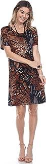 Women's Stretchy Missy Dress Short Sleeve Print