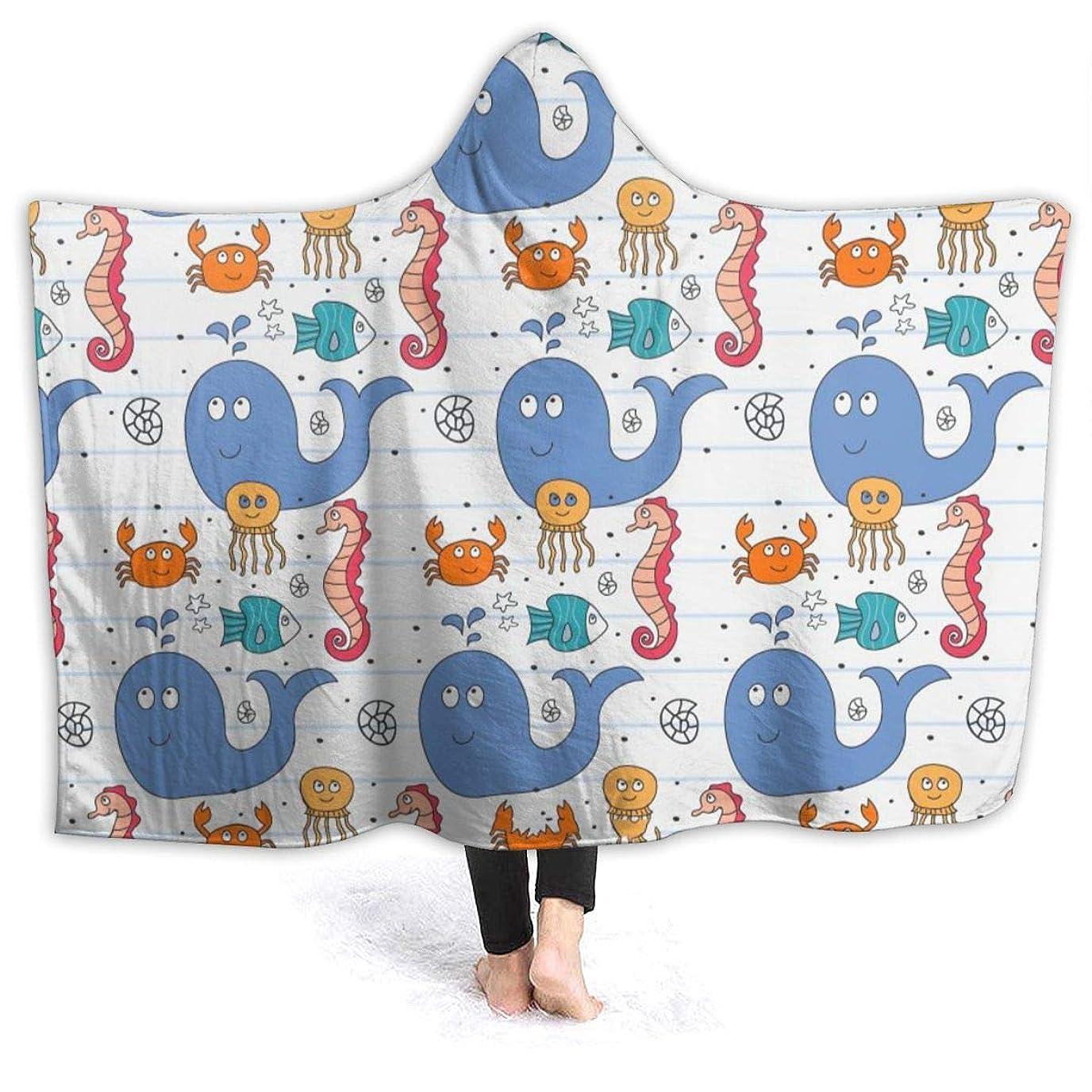 ラッドヤードキップリングうねる理想的Bydeclan 毛布 着る毛布 ブランケット ルームウェア 可愛い 動物柄 大判 ひざ掛け 肩掛け 着るブランケット フード付き マイクロファイバー あったか 柔らかい 防寒 軽量 丸洗い