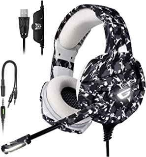 Gaming Headphones with Microphone for Computer ps4 Headset with mic,for Xbox,for PS4, PS5 for PC/Mic