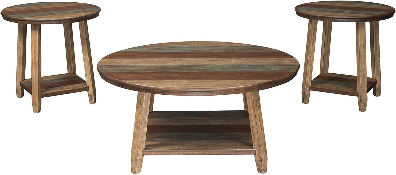 Signature discount Design by Under blast sales Ashley Raebecki In 3-Piece Rustic Table Set