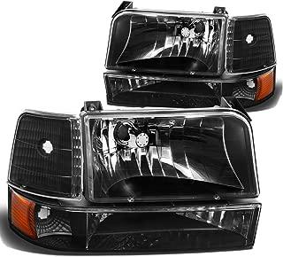 DNA Motoring HL-OH-F15092-6P-BK-AM Headlight Assembly, Driver & Passenger Side