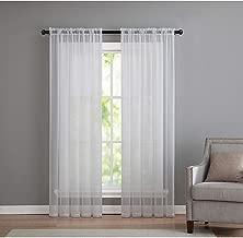 white sheet curtains