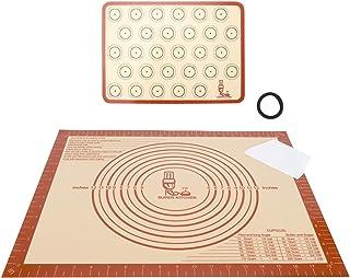 Grand tapis de cuisson en silicone antidérapant avec grattoir à pâte, tapis antidérapant pour macaron/fondant/pizza/pain, ...
