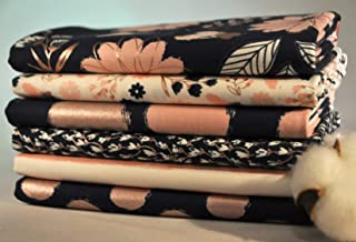 Blush 6 Fabric Fat Quarters Bundle by My Mind's Eye for Riley Blake. 1 1/2 Yards Total