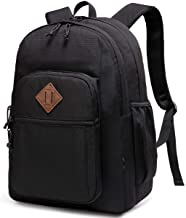Backpack for Men Women,Chasechic Water Resistant Dual-compartments School Backpack 15-in Laptop Backpack,Black