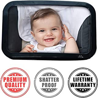 Baby Car Mirror | Large Rear View Mirror Accessories for Safe Viewing Your Infant While Driving | Travel Car Seat | Keep Your Infant Safe in The Back Seat of Cars | Easy Installation on Headrest