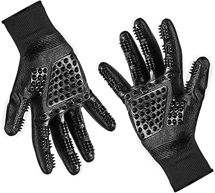 Hunde und Pferde/-/Lange /& Kurze Fell Sanfte B/ürste Handschuh Spet K/äfer Fellpflege Handschuh Enhanced F/ünf Finger Design Perfec f/ür Katzen