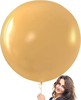 Prextex Gold Giant Balloons - 8 Jumbo 36 Inch Gold Balloons for Photo Shoot, Wedding, Baby Shower, Birthday Party and Even...
