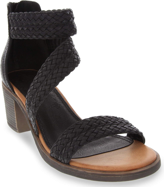 Sugar Women's Haidee Braided Criss Cross Strap Heeled Dress Sandals