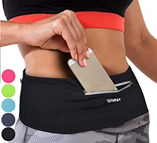 Tirrinia Unisex Running Belt Fanny Pack for iPhone X 6 7 8 Plus 11 Pro X XR XS, Runner Workout Belt Waist Pack for Women and Men Walking Fitness Jogging Travel Non-Bounce
