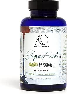 Organic Green Superfood Capsules | Promotes Energy, Focus, Alkalinity, Detox & Immune Strength | Greens Powder with Spirulina, Chlorella, Ashwaganda, Turmeric, Acai, Maca and more | 124 Vegan Capsules