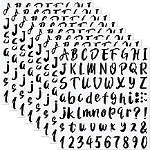 LCOUACEO 576 stuks zelfklevende vinylletters, cijferstickers, cijfers, alfabet stickers voor brievenbussen, borden, deure...
