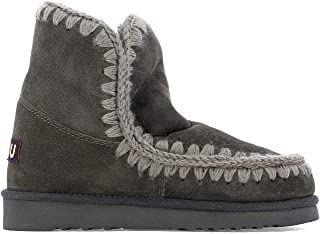 Mou Luxury Fashion Womens MUFW101001ACHA Grey Ankle Boots | Fall Winter 19