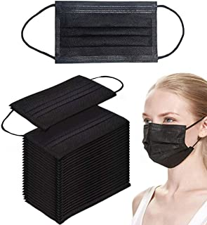 HANCYLILY Disposable Sanitary Products Disposable Face Dust Filter 50 PCS, Black