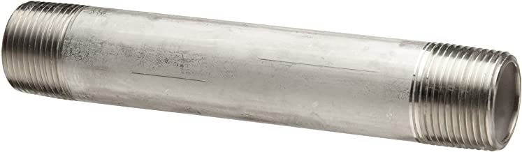 Stainless Steel 316/316L Pipe Fitting, Nipple, Schedule 40 Welded, 1/2