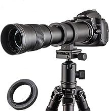 JINTU 420-800mm 望遠ズームレンズF/8.3-F16 キヤノン用80D, 70D, 77D, 60D, 60Da, 1Ds, Mark III and II 7D, 6D, 5D, 5DS Rebel T7i, T7s, T6s,...