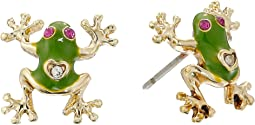 Jungle Book Frog Stud Earrings