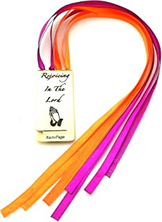 Bookmark for Bible or any Book Multi-Color 8-Page Ribbon Marker