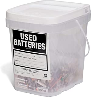 New Pig Used Battery Container, Clear/White