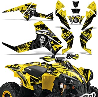 CanAm Renegade X R Graphic Kit ATV Quad Decals Wrap Can Am 500/800/1000 REAPER YELLOW