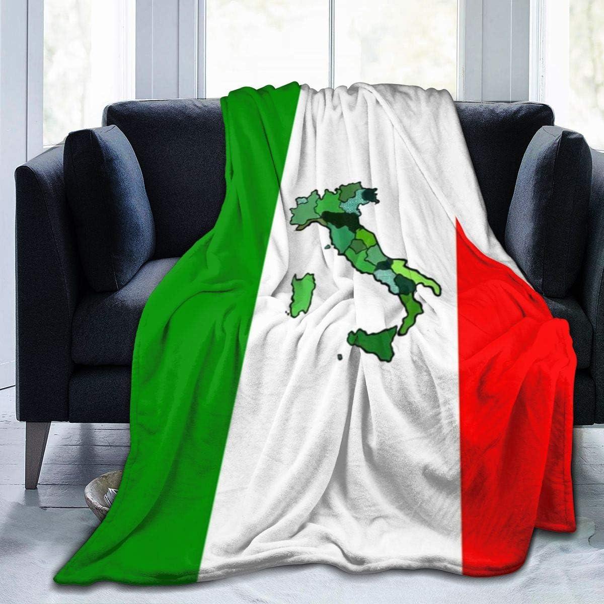 Flannel Fleece Luxury Sale price unisex Throw Blanket Map Italy and of Italian Fl