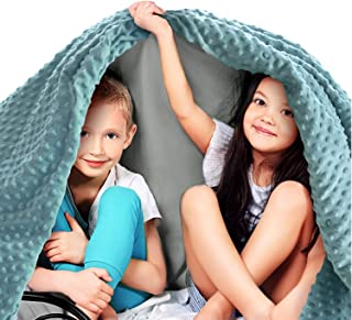 Quility Premium Kids Weighted Blanket & Removable Cover | 10 lbs | 41